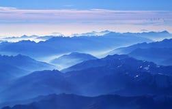 Alpi dall'aereo Fotografia Stock Libera da Diritti