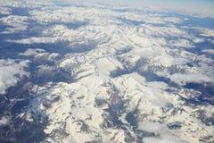 Alpi dall'altezza di 9000 metri Fotografia Stock Libera da Diritti