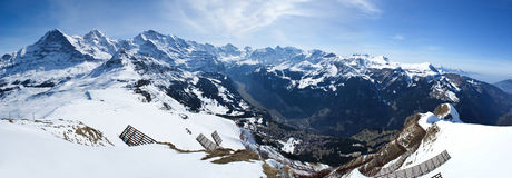 Alpi dalla cima Fotografia Stock Libera da Diritti