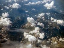 Alpi dalla vista aerea Fotografia Stock