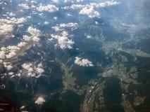 Alpi dalla vista aerea Immagine Stock Libera da Diritti