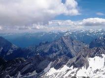 Alpi dallo Zugspitze in Germania Immagine Stock Libera da Diritti
