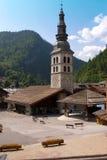 Alpi del francese di Clusaz della La Immagini Stock Libere da Diritti