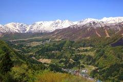Alpi del Giappone di inizio dell'estate Fotografia Stock
