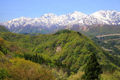Alpi del Giappone di inizio dell'estate Fotografie Stock Libere da Diritti