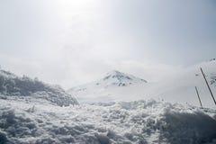 Alpi del Giappone, moutains di inverno con neve Fotografie Stock