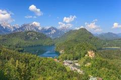 Alpi del lago e della Baviera Eibsee Immagini Stock Libere da Diritti