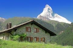 Alpi del Matterhorn Svizzera della montagna Fotografie Stock