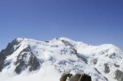 Alpi del Monte Bianco Chamonix-Mont-Blanc francesi Immagini Stock Libere da Diritti