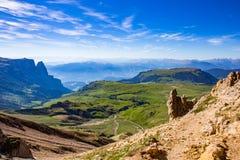 Alpi del paesaggio della montagna Fotografie Stock Libere da Diritti