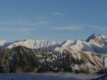 Alpi del paesaggio di inverno Fotografia Stock Libera da Diritti