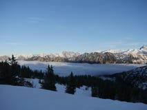 Alpi del paesaggio di inverno Immagini Stock Libere da Diritti