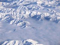 Alpi del sud della Nuova Zelanda da sopra. Immagini Stock Libere da Diritti
