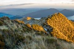 Alpi del sud di mattina Immagine Stock Libera da Diritti