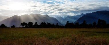 Alpi del sud Nuova Zelanda Immagini Stock
