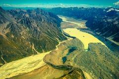 Alpi del sud in Nuova Zelanda Immagine Stock