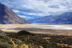 Alpi del sud, Nuova Zelanda Fotografia Stock Libera da Diritti