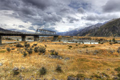 Alpi del sud, Nuova Zelanda Immagini Stock