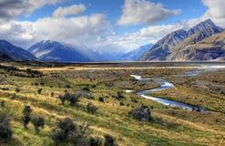Alpi del sud, Nuova Zelanda Fotografia Stock