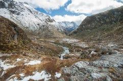 Alpi del sud, Nuova Zelanda Immagine Stock Libera da Diritti