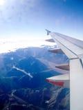 Alpi del sud in Nuova Zelanda dal cielo Fotografie Stock Libere da Diritti