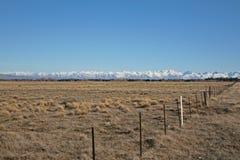 Alpi del sud del ` s della Nuova Zelanda e campi sterili Immagine Stock Libera da Diritti