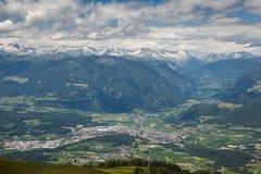 Alpi del sud del Tirolo Fotografie Stock