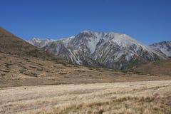 Alpi del sud vicino al passaggio di Arthur Immagine Stock
