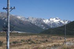 Alpi del sud vicino al passaggio di Arthur Fotografia Stock Libera da Diritti