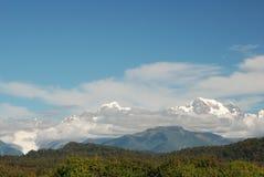 Alpi del sud. Vista dalla laguna di Gillespies Fotografie Stock Libere da Diritti