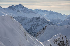 Alpi del tedesco di Snowy Fotografia Stock