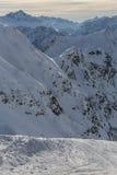 Alpi del tedesco di Snowy Fotografia Stock Libera da Diritti