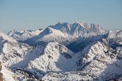 Alpi del tedesco di Snowy Fotografie Stock Libere da Diritti