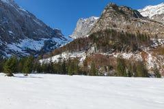 Alpi del Tirolo del paesaggio di inverno della montagna, Austria Immagini Stock Libere da Diritti