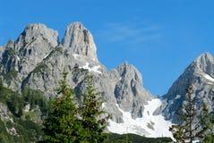 Alpi dell'Austria Fotografia Stock
