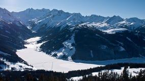 Alpi dell'austriaco del lago mountain Fotografie Stock