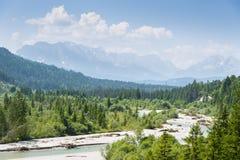 Alpi dell'austriaco del paesaggio Immagini Stock Libere da Diritti
