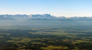 Alpi dell'europeo di fotographia di aria Immagini Stock