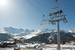 Alpi dell'Italia della stazione sciistica Fotografia Stock Libera da Diritti
