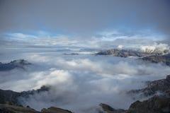 Alpi dell'italiano del paesaggio della montagna Fotografia Stock Libera da Diritti