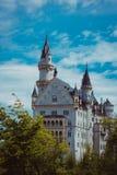 Alpi della Baviera della Germania del castello Fotografia Stock Libera da Diritti