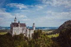 Alpi della Baviera della Germania del castello Immagine Stock