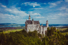 Alpi della Baviera della Germania del castello Fotografia Stock