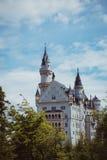 Alpi della Baviera della Germania del castello Immagine Stock Libera da Diritti