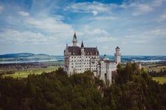 Alpi della Baviera della Germania del castello Immagini Stock Libere da Diritti