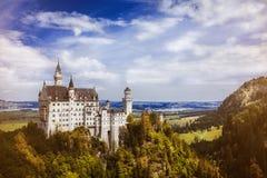 Alpi della Baviera della Germania del castello Fotografie Stock Libere da Diritti