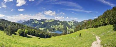 Alpi della Baviera di Jaegerkamp di panorama Immagini Stock