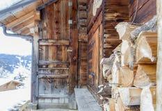 Alpi della capanna Fotografia Stock Libera da Diritti