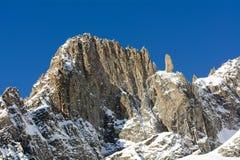 Alpi della catena di Mont Blanc Fotografia Stock Libera da Diritti