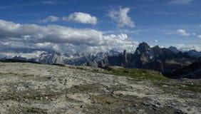 Alpi della dolomia Immagine Stock